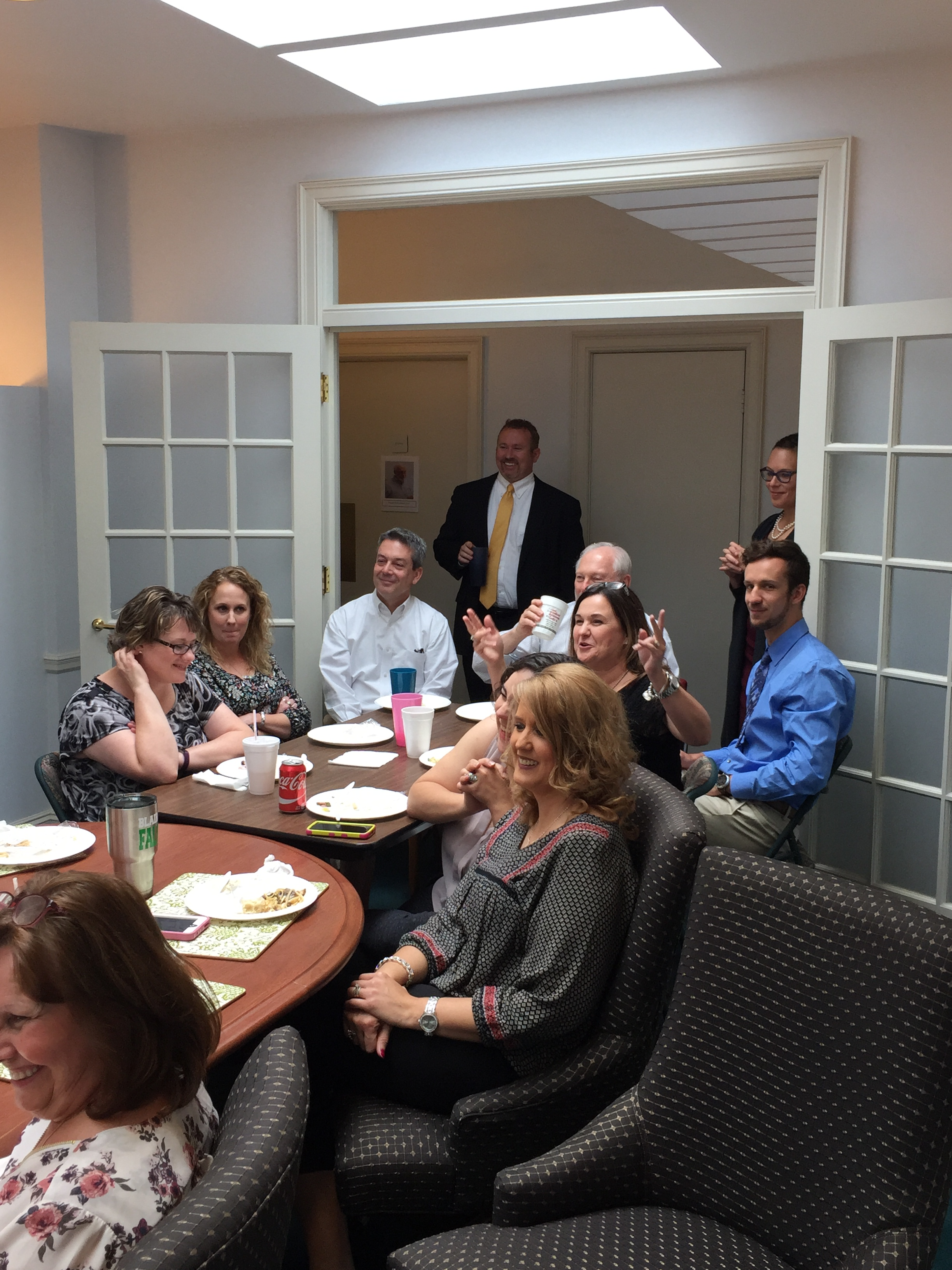 attendees at pat hulse retirement party